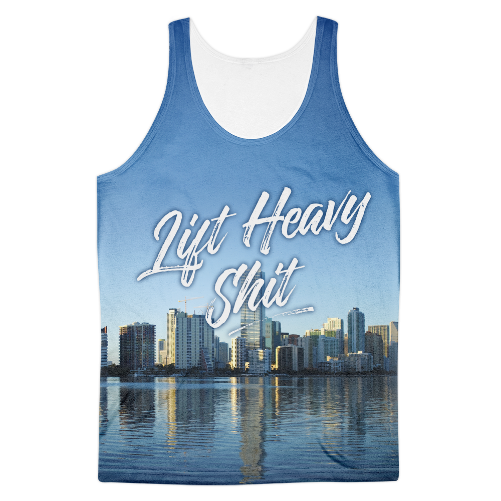 Miami Skyline Men's Tank Top - Lift Heavy Apparel - 1