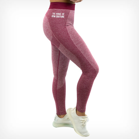 Seamless Leggings Dark Cherry Red Lift Heavy Apparel