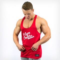 Men's Gym Couture Stringer Vest Red