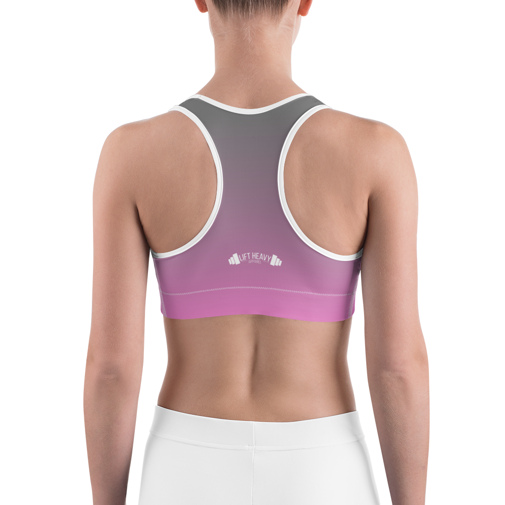 Rose fade sports bra Lift Heavy Apparel