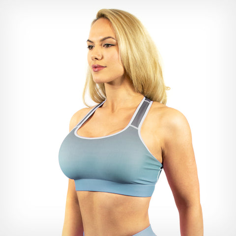 Sky fade sports bra Lift Heavy Apparel