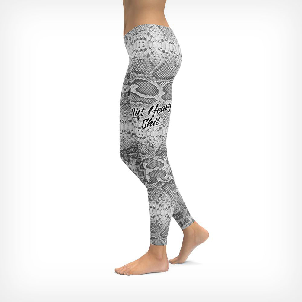 Snakeskin Print Women's Leggings Lift Heavy Apparel