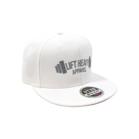 White & Grey Snapback Lift heavy Apparel