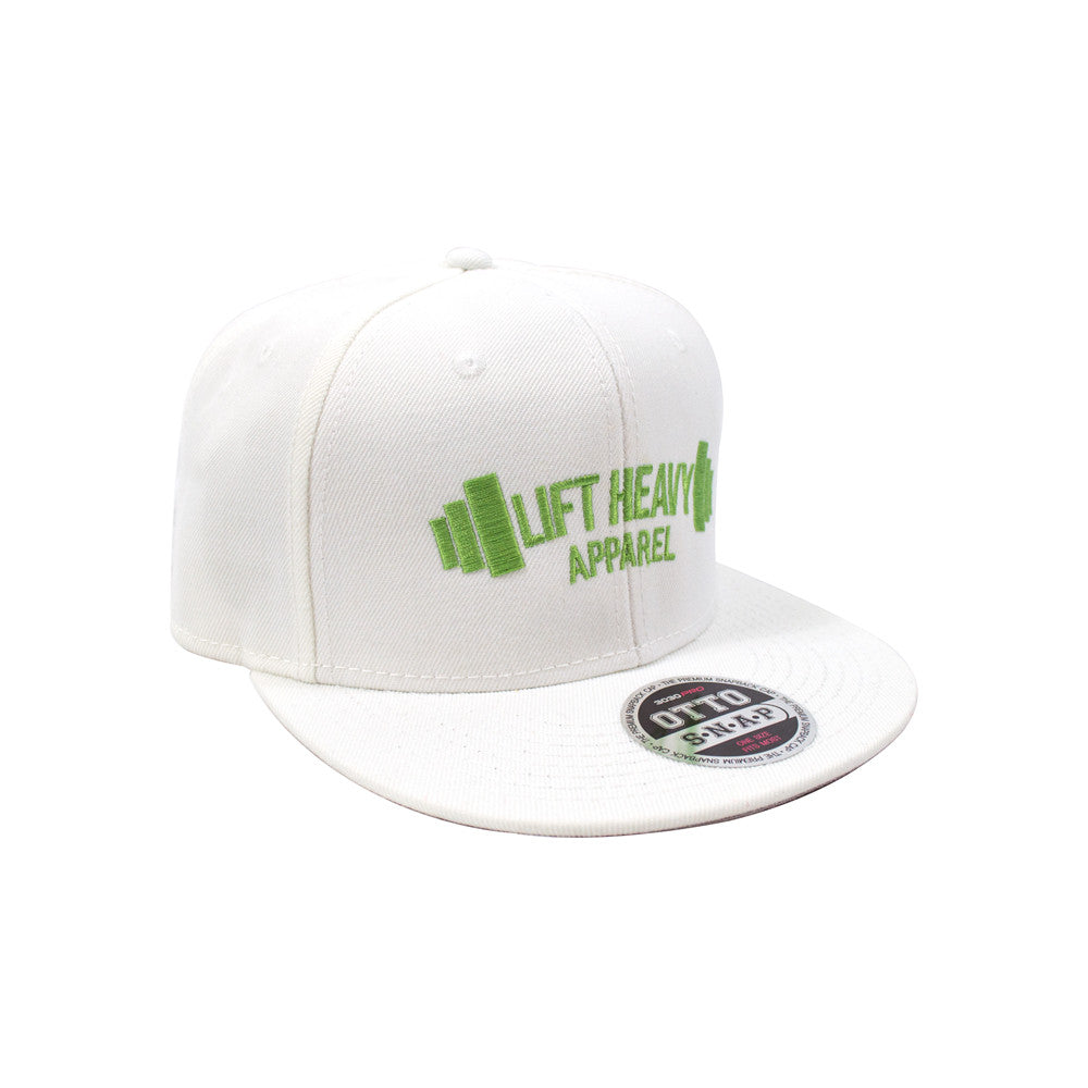 White Snapback lift heavy apparel