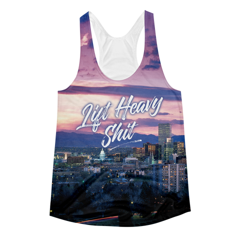Denver Skyline Women's Racerback Tank Top - Lift Heavy Apparel - 1