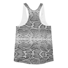 Snake Skin Women's Racerback Tank Top - Lift Heavy Apparel - 2