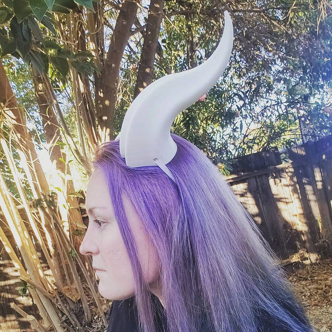 Large Double Ridge 3D Printed Costume Horns (Multiple Colors Available)