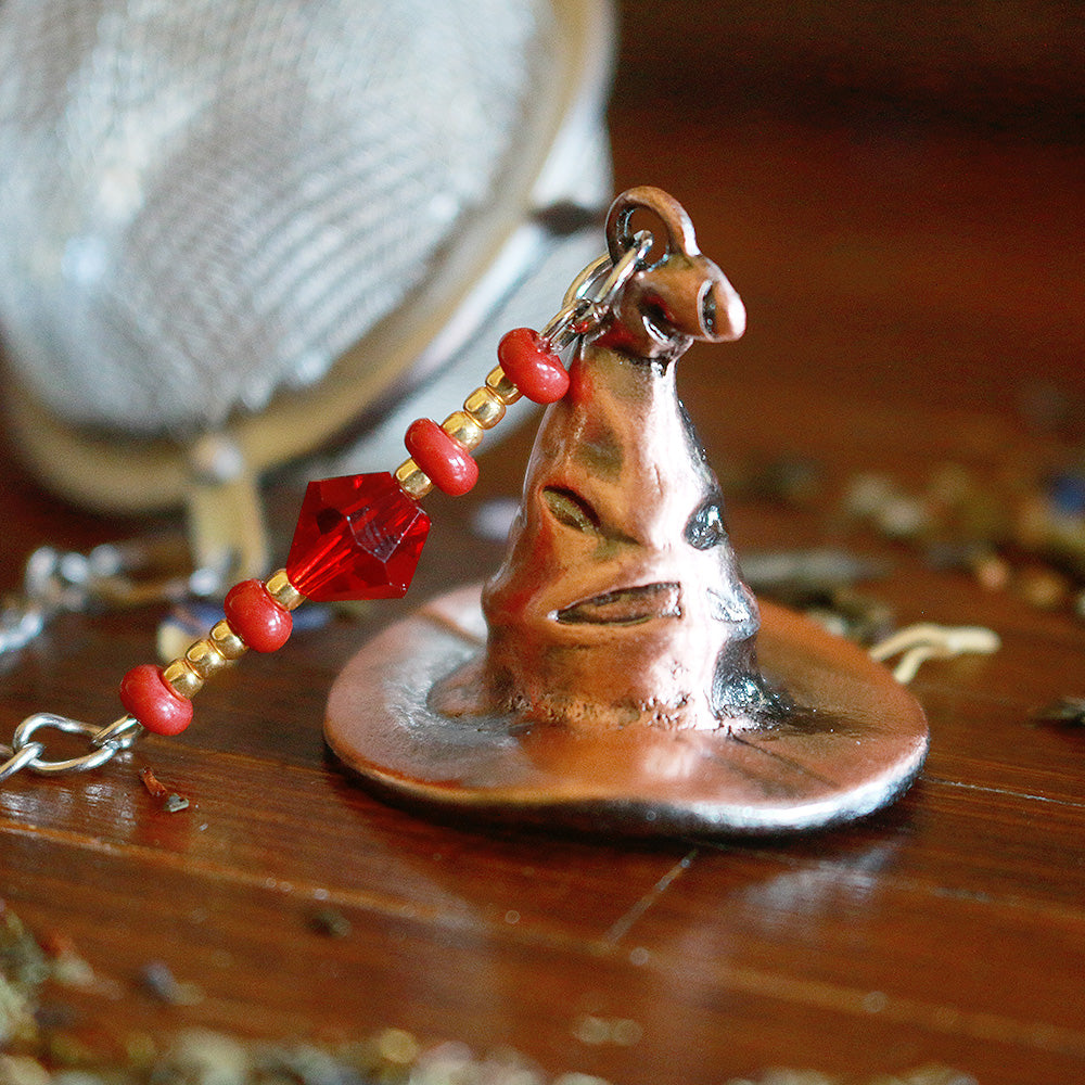 Sorting Hat Gryffindor Beaded Mesh Tea Ball Infuser