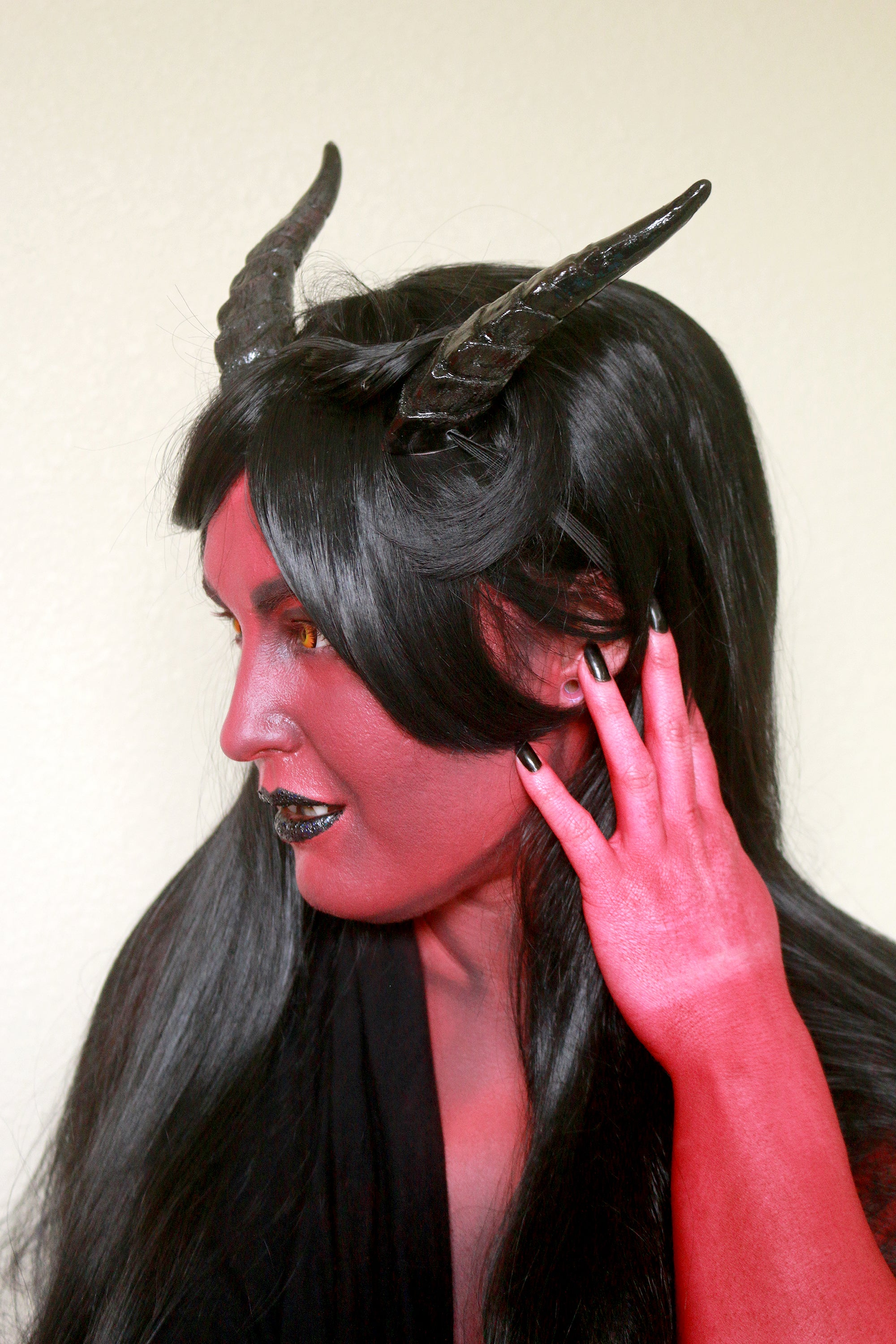 Glitter Black Guardian Horns
