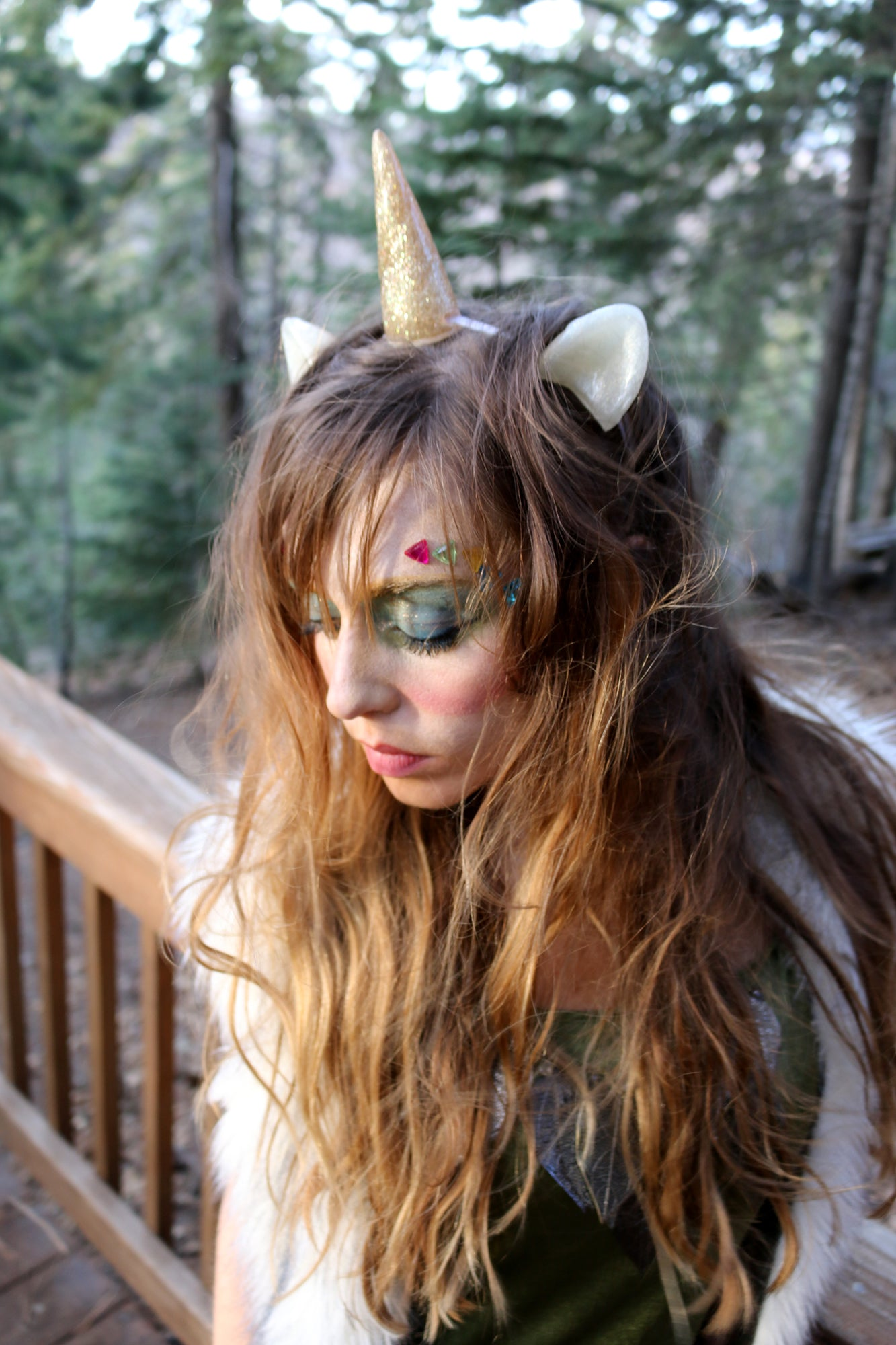 Gunmetal Ears with Horn Unicorn Set