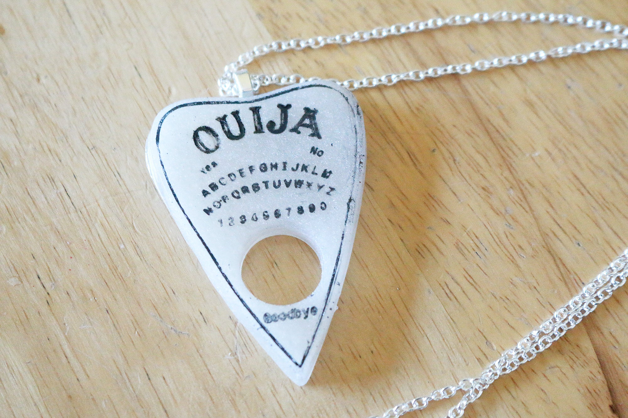 Pearl Ouija Planchette Necklace