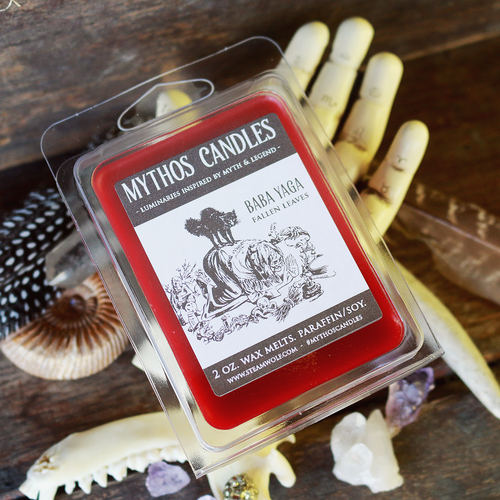 Limited Edition Mythos Candles 2oz Baba Yaga (Fallen Leaves) Paraffin/soy Wax Melts