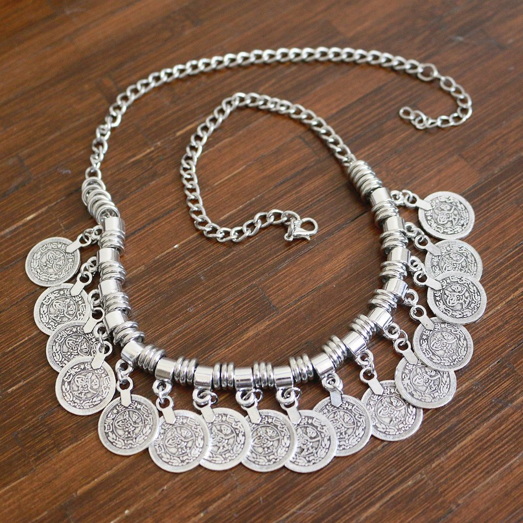 Unrestrained Coin Statement Necklace
