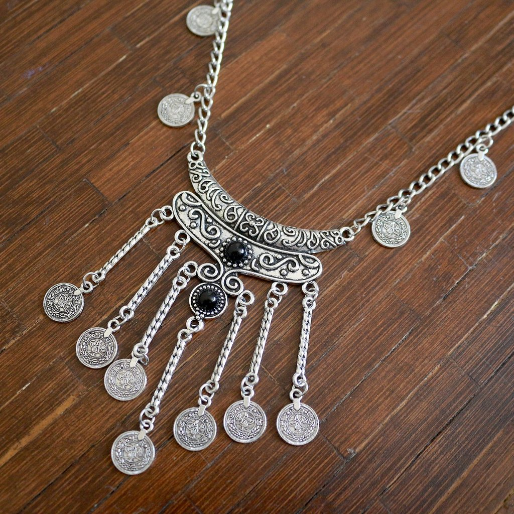 Untamed Coin Statement Necklace