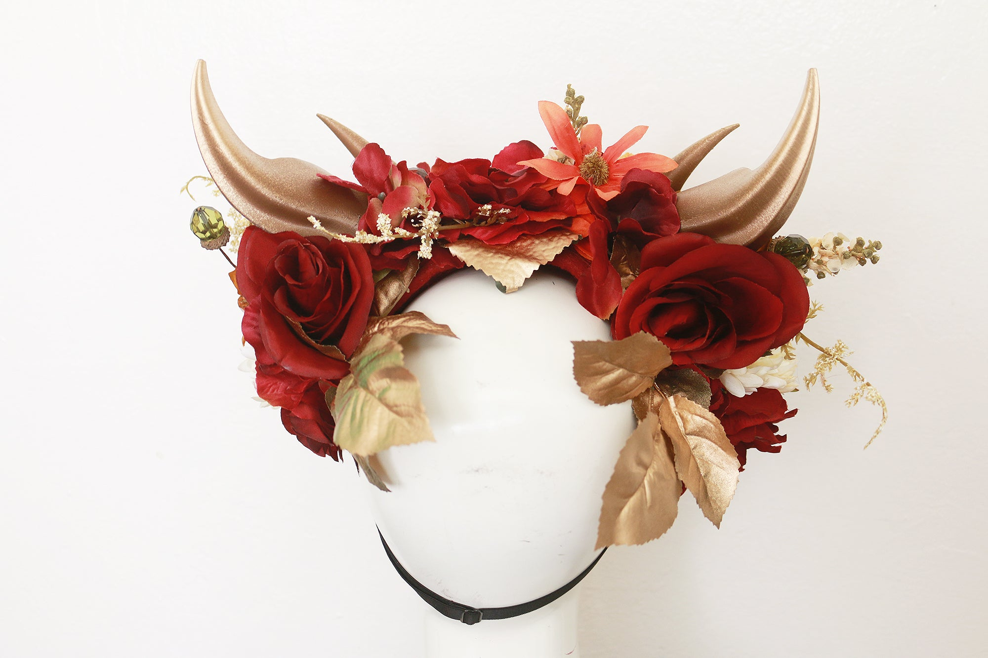 Autumn Bouquet double horn headdress