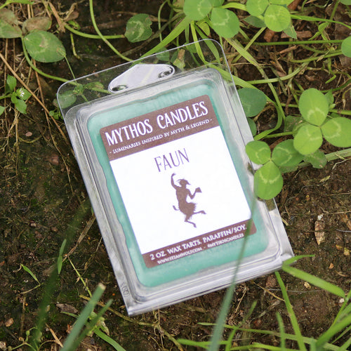 Mythos Candles - Faun | 2oz. Paraffin/soy Wax Melts | Meadow & Rosemary - SteamWolf Symphony