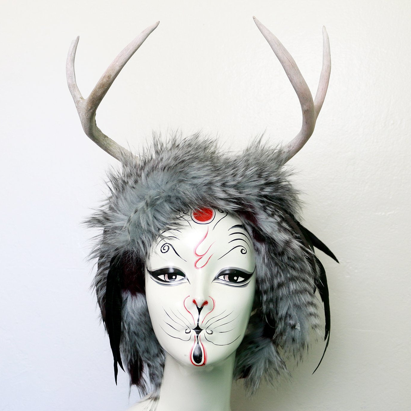 Wise Wild antler headdress