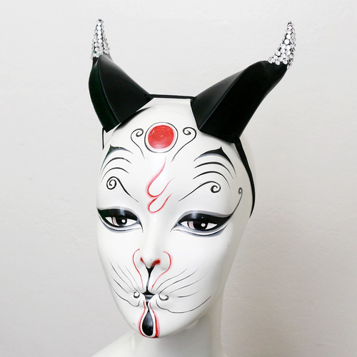 Black Rhinestone Medium Beast 3D Printed Costume Horns