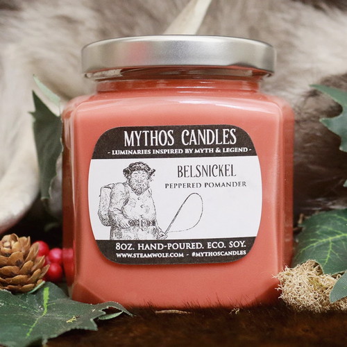 Limited Edition Mythos Candles | Belsnickle 8oz Peppercorn Pomander