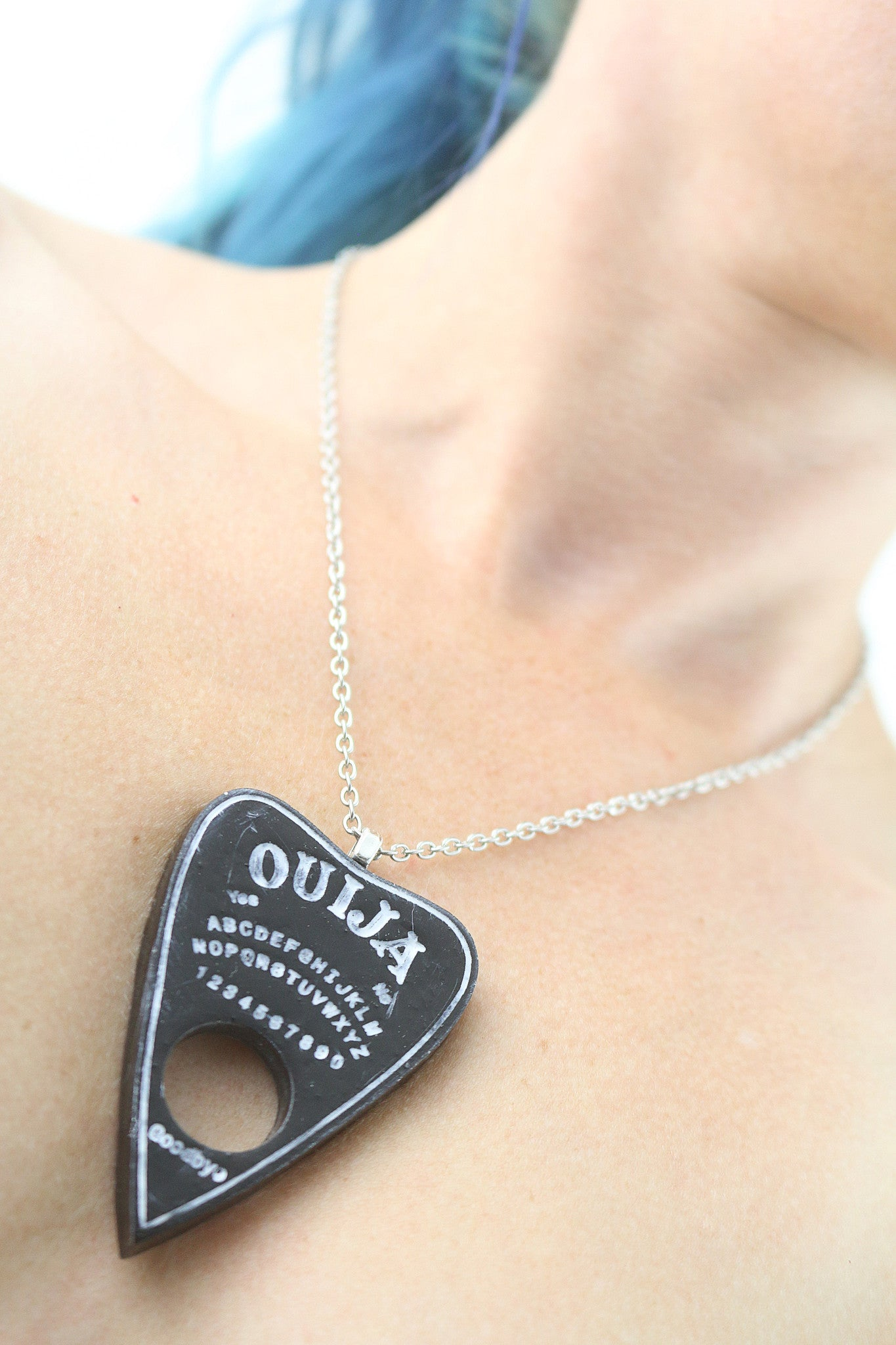 Black Ouija Planchette Necklace - SteamWolf Symphony