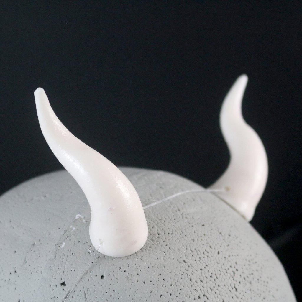 White Morphos Costume Horns - SteamWolf Symphony