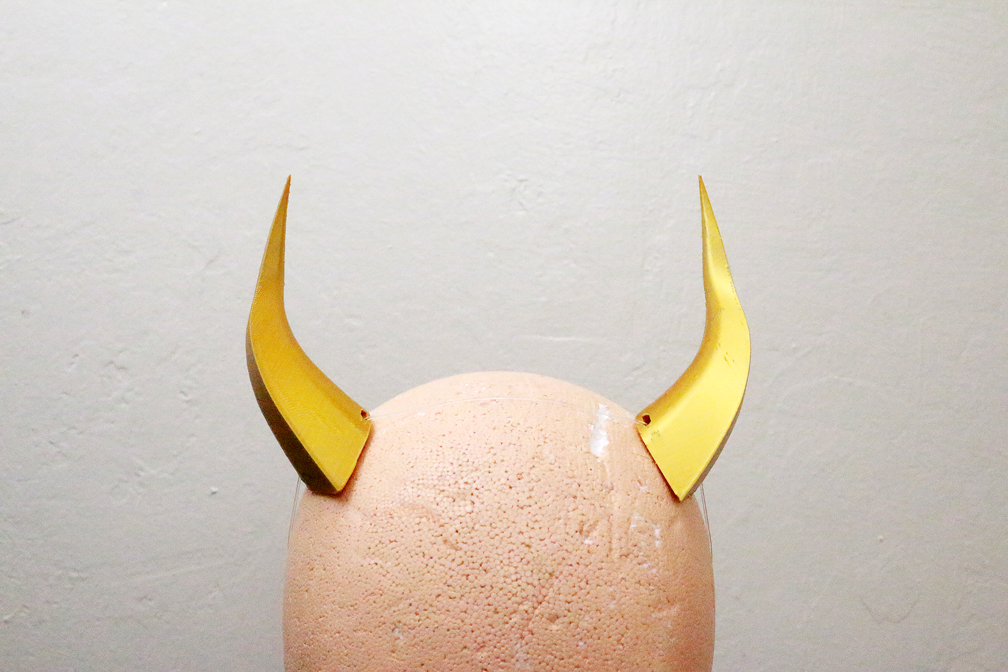 Medium Wyvern 3D Printed Costume Horns