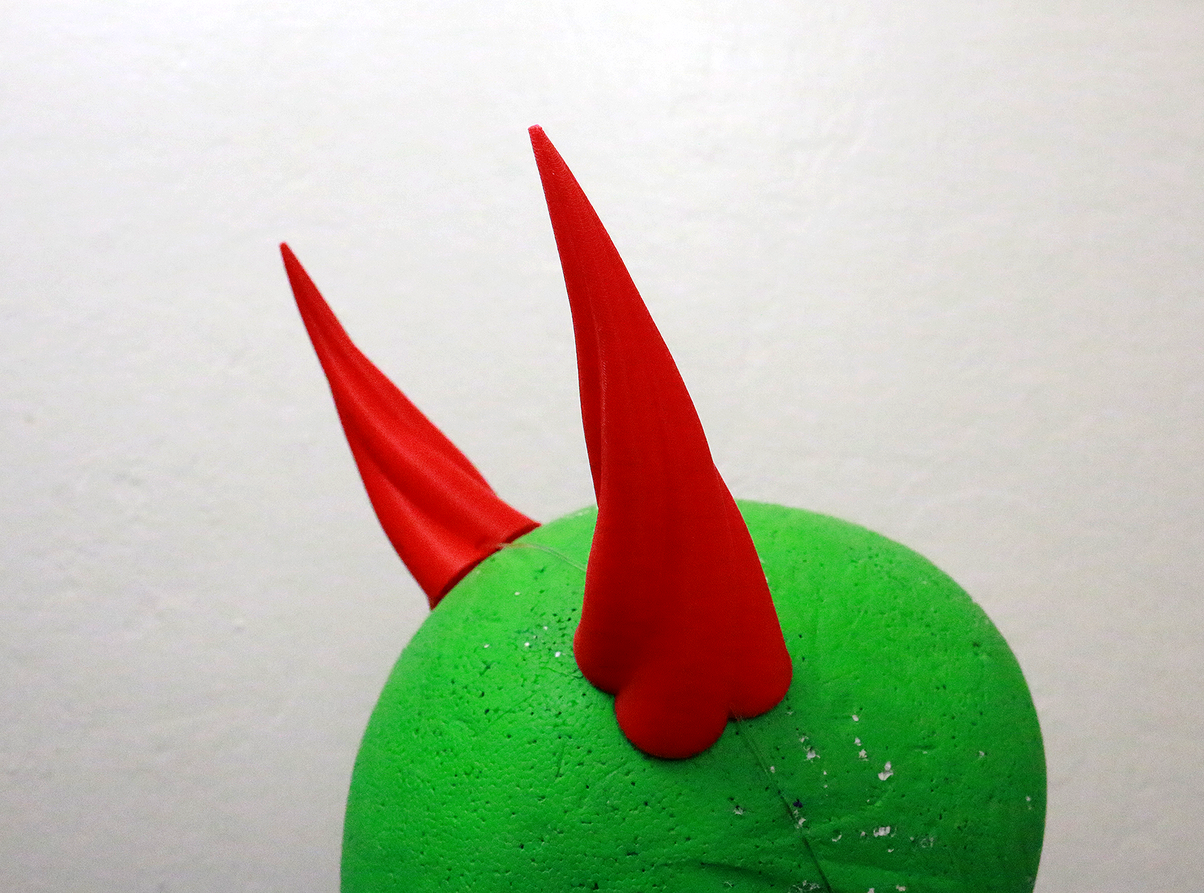 Medium Fiend 3D Printed Costume Horns