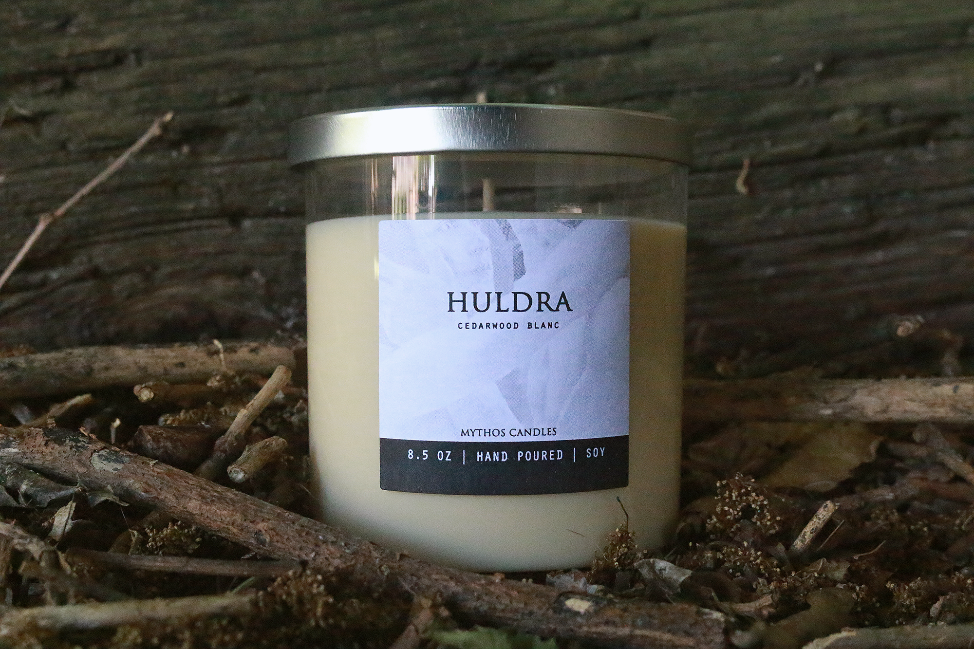 Mythos Candles 8.5oz Huldra (Cedarwood Blanc) Soy Candle