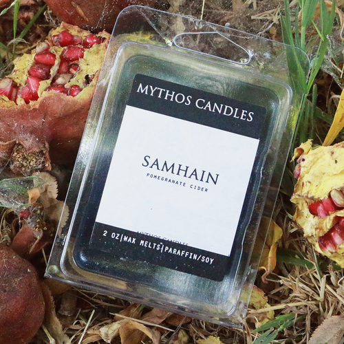 Limited Edition | Mythos Candles - Samhain | 2oz. Paraffin/soy Wax Tarts | Pomegranate Cider