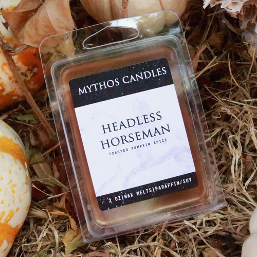 Limited Edition | Mythos Candles - Headless Horseman | 2oz. Paraffin/soy Wax Tarts | Toasted Pumpkin Spice