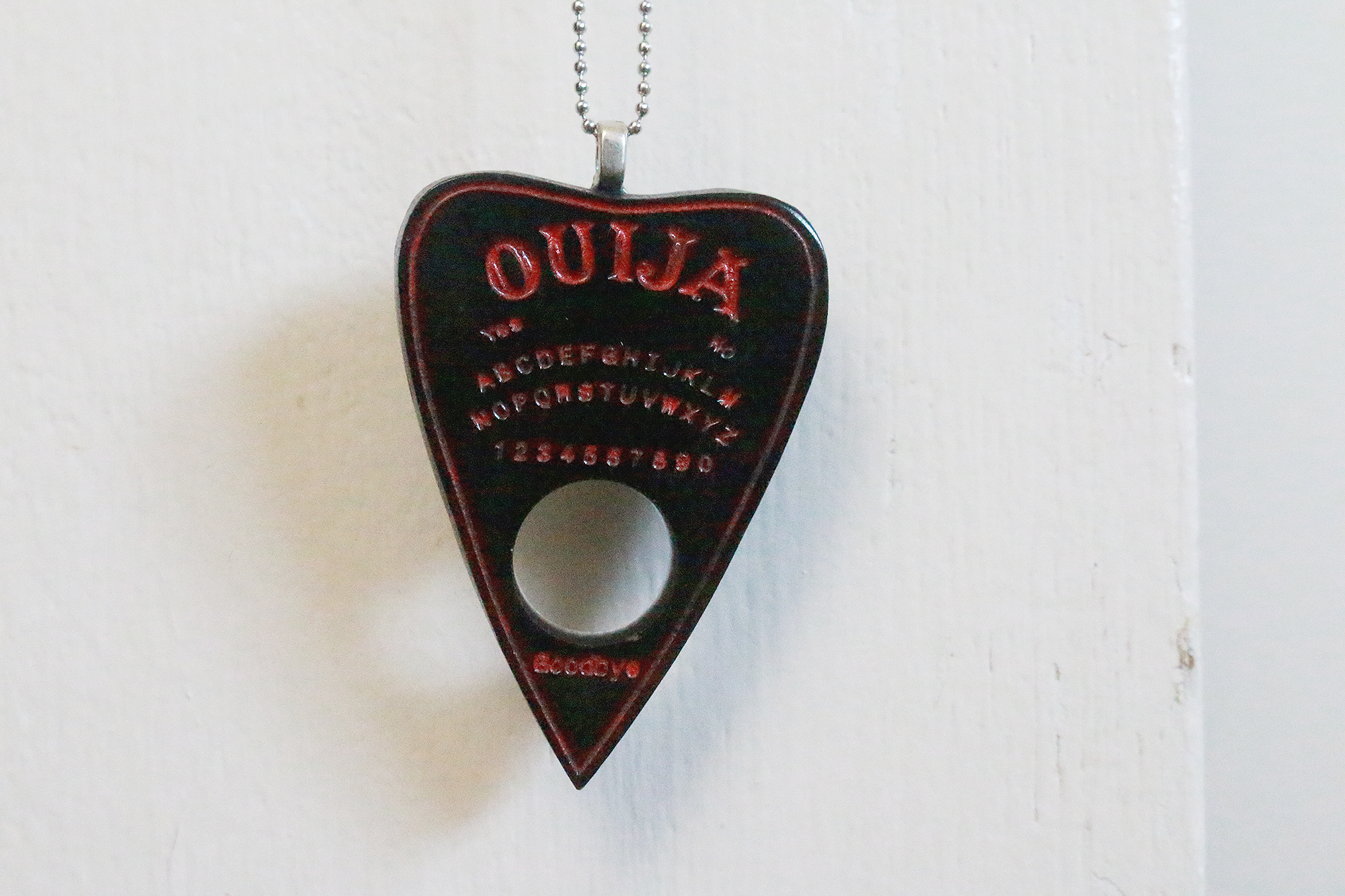 Black Red Ouija Planchette Necklace