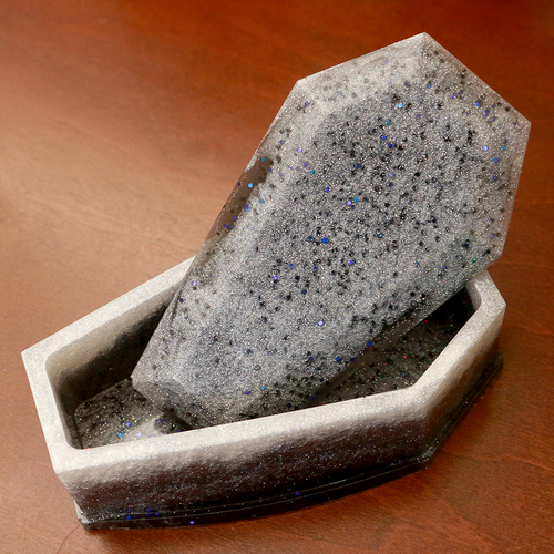 Pearl & Gray Glitter Coffin Box