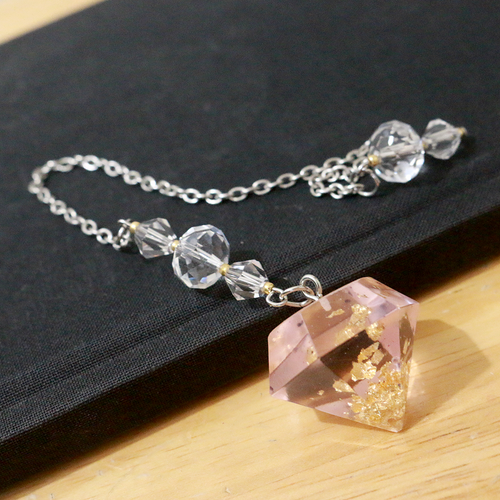 Rose Gold Leaf Pendulum