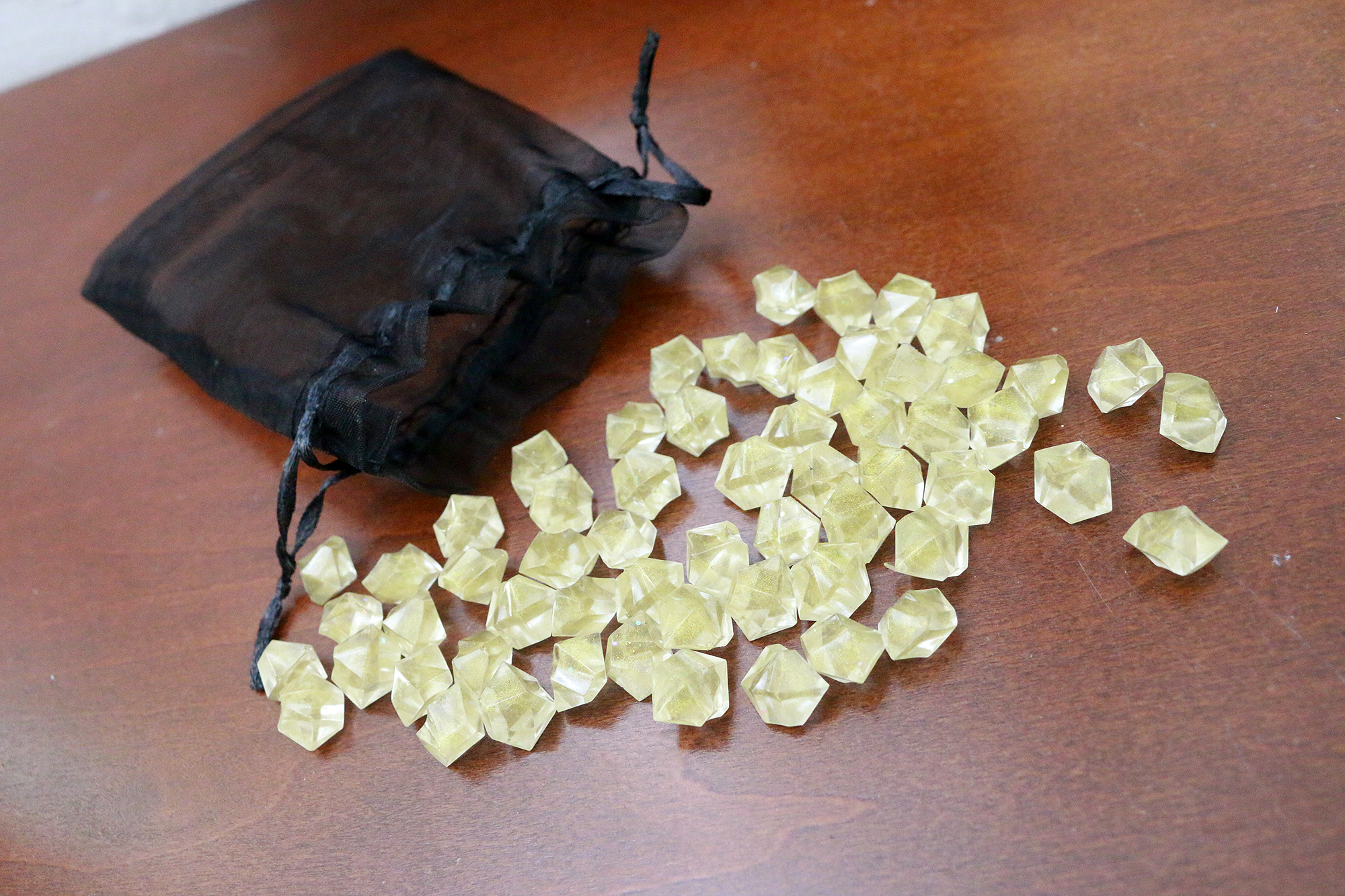 Sunshine Yellow 60 Game Tokens
