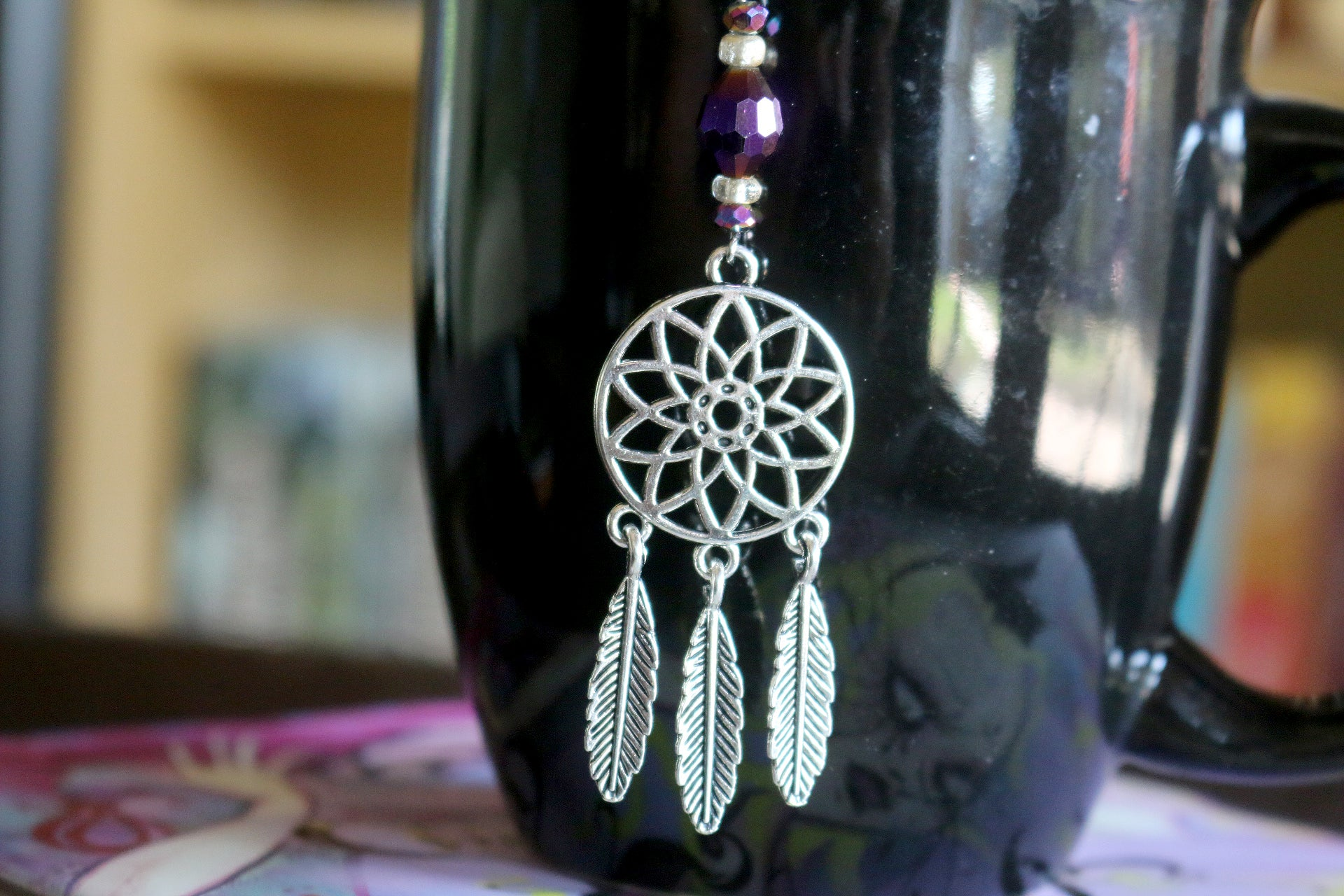 Spirit Dreamcatcher Beaded Mesh Tea Ball Infuser