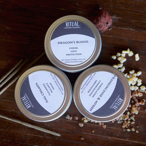 Mythos Candles: Ritual - Set of three 4oz soy candles