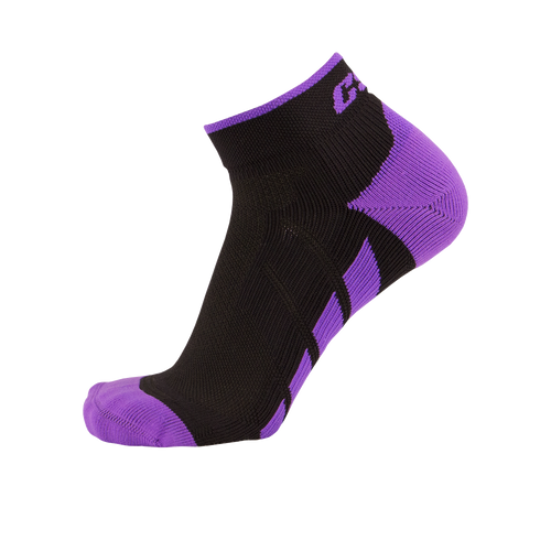CSX X110 High Cut Purple on Black Ankle Sock PRO
