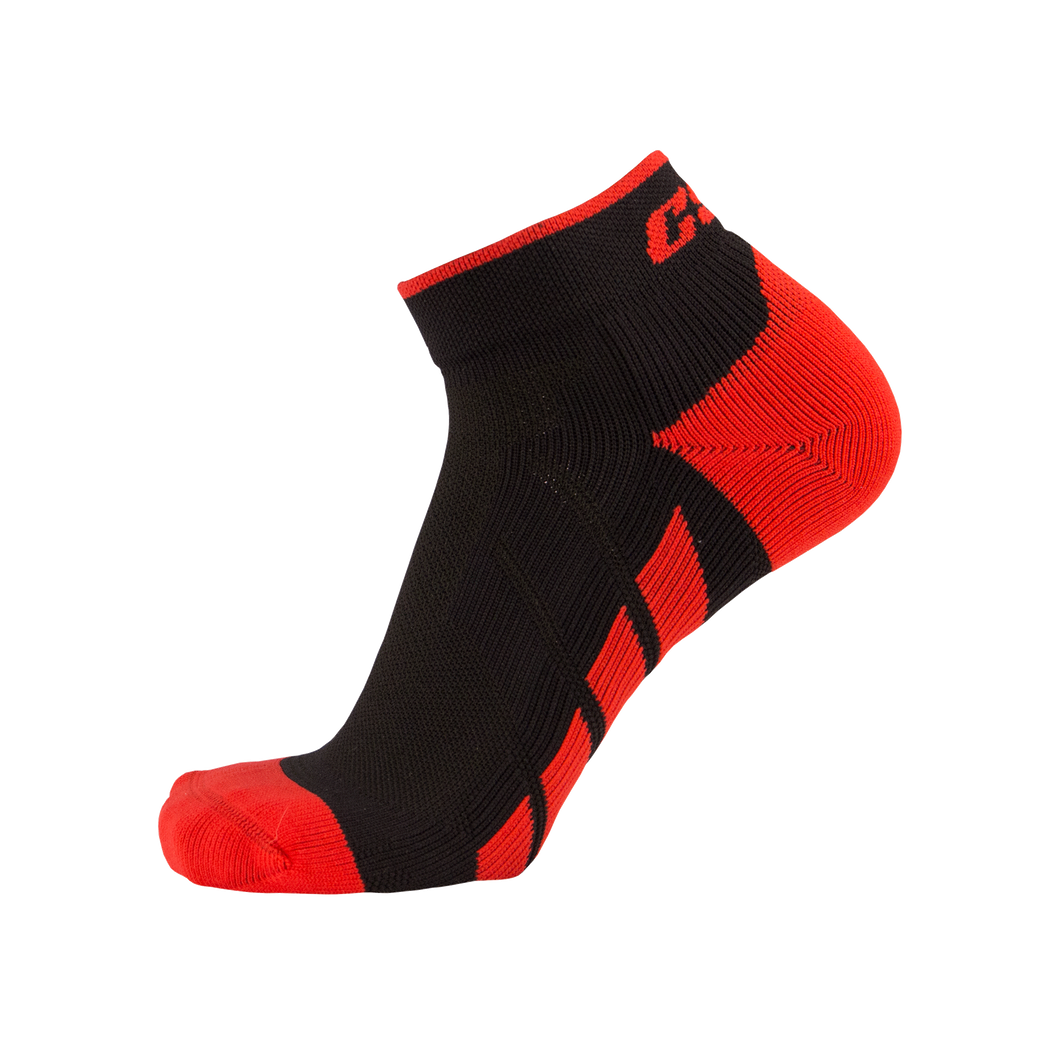 CSX X110 High Cut Red on Black Ankle Sock PRO