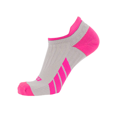 X100, Low Cut, Pro Ankle Socks, Pink on Grey, Side View
