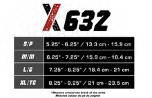 X632, Braces and Supports, Wrist Brace, Size Chart
