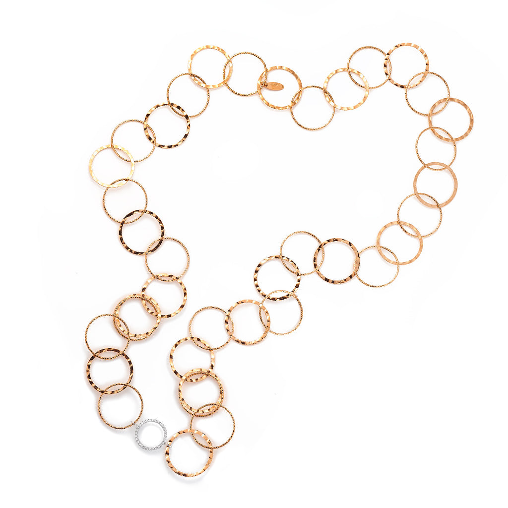La LUXE 'PAPERCHAIN' Necklace - Rose or Silver