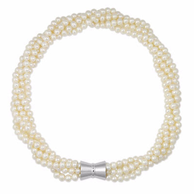La PALOMA BIANCA & Magnet clasp - Pearl Necklace
