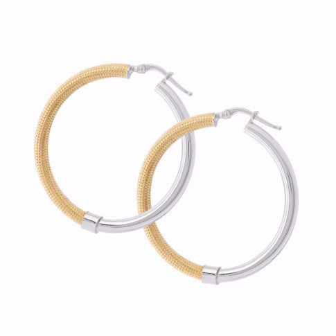 La DUO TONO Hoops - Yellow - SALE