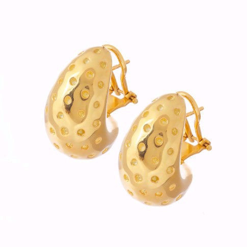La SPECKLED ELECTROPLATED Earrings - Yellow - SALE