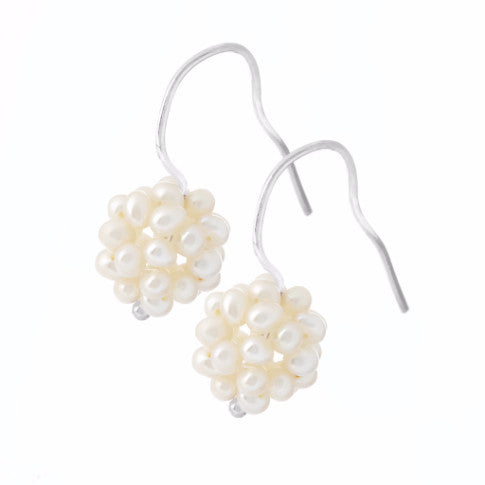La BERRY Pearl Earrings - White - SALE