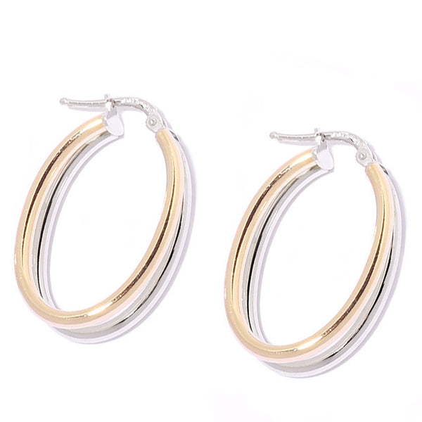 La DUO TONO TWISTED OVAL Hoops