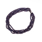 La PALOMA 'Blackberry' Magnetic Pearl Necklace