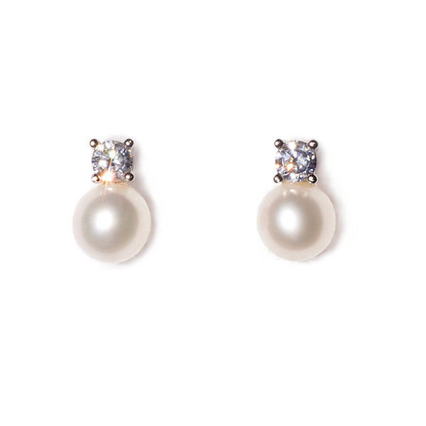 La SPARKLE Pearl & CZ Earrings