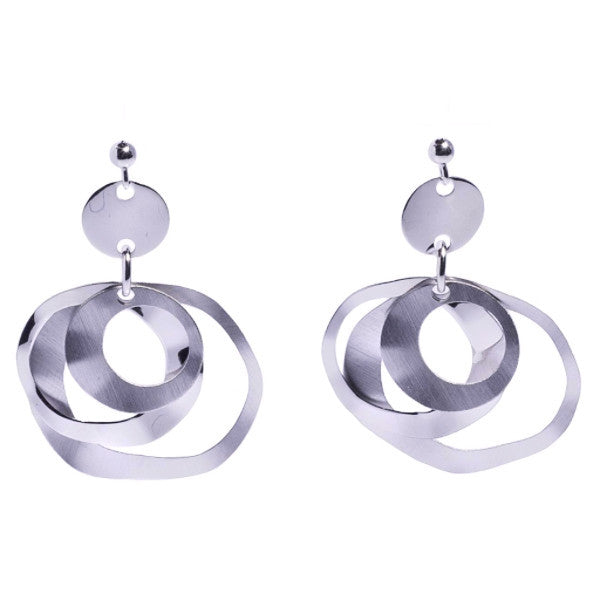 La SATINA TRIPLE CIRCLE Drop Earrings