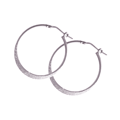 La Graduated MOONDUST Hoops - Silver